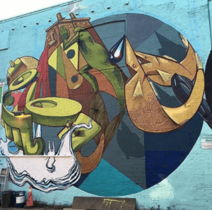 Mural by Sermob.